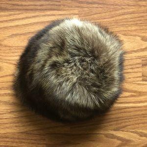 Big fluffy real fur hat vintage